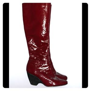 Vice President patent leather boots